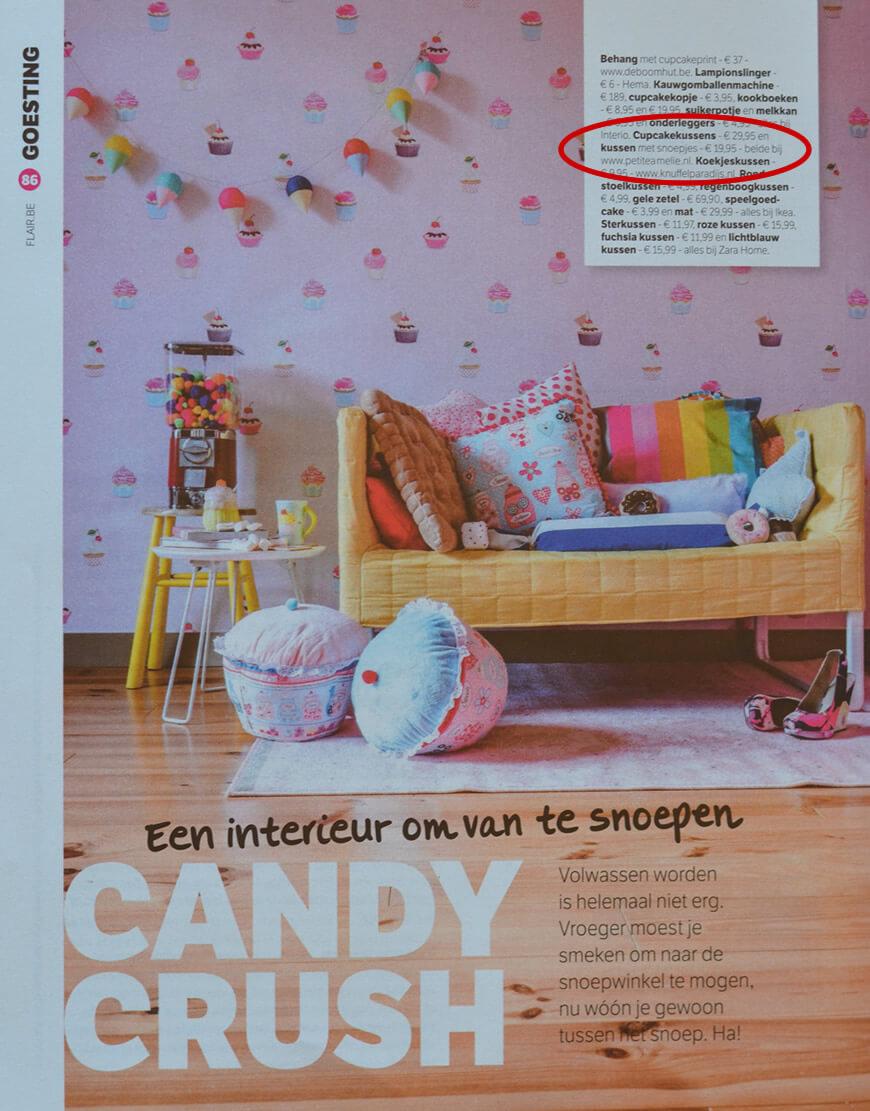Petite Amélie Candy Kussen on Flair
