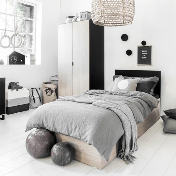 bed-tiener-zwart-wit-hout-petite-amelie