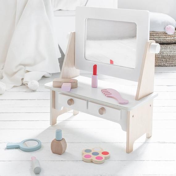 houten kaptafeltje/ make-up tafeltje
