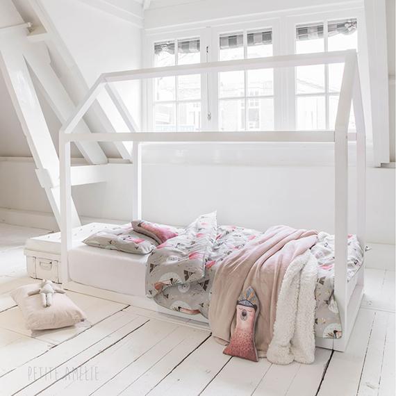 Huisjesbed Petite Amelie wit